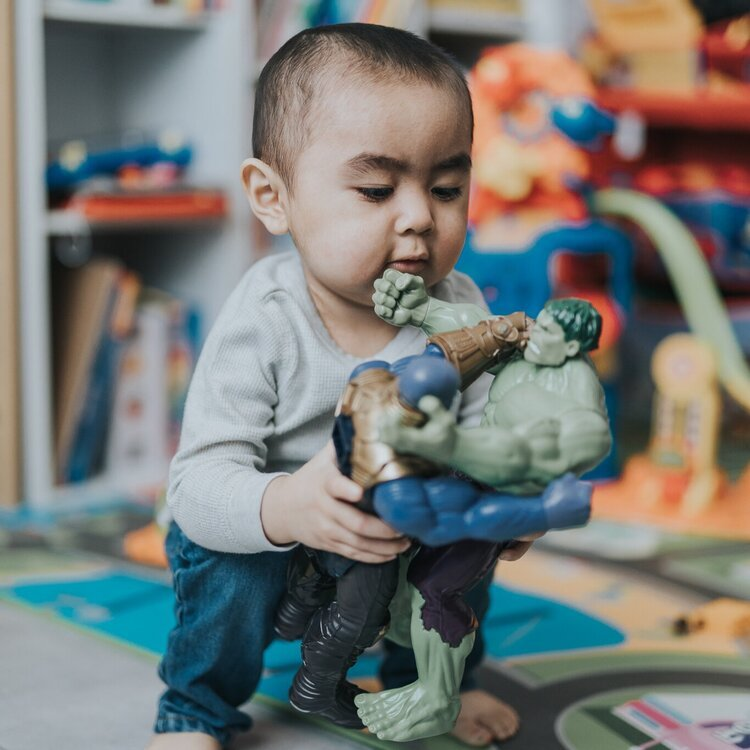Alt text: Two-year-old Ethan loves superheroes and hopes to meet some at Disney with help from the Brightling community.