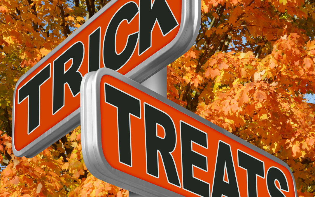 Trick or Treats sign